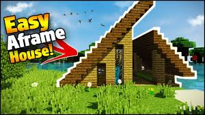 minecraft easy a frame house tutorial how to build a house in minecraft