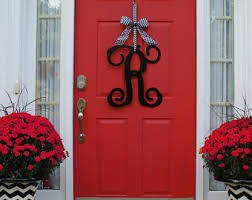 front door monogramMonogram door hanger  Etsy