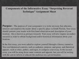 pedagogy presentation informative writing surprising reversal techniq   essay fits 23