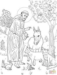 Saint Francis Coloring Page 2019 Open Coloring Pages