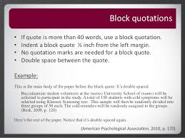 Block Quotes Apa Adorable Roseman University Library APA Citation Quotations