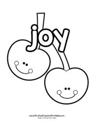 Fruits Of The Spirit Bible Coloring Pages Christian Preschool