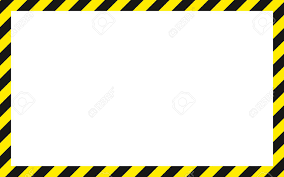 Black And Yellow Stripes Border Warning Striped Rectangular Background Yellow And Black Stripes