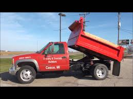Lot 4026 1997 Chevy 3500 Dump Truck (84,000 miles), diesel - YouTube