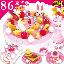 Play House Birthday Cake Toys Childrens Simulation Cake Fruit Cuts