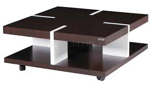 modern wood coffee table brown white solid wood modern coffee table w casters ikct