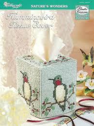 hummingbird tissue cover plastic canvas pattern home decor tissue box cover the needlecraft