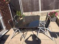 garden table and chairs for sale in leeds. garden table with 4 chairs and parasol for sale in leeds +