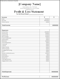 excel income statement financial statement template xls basic income statement template
