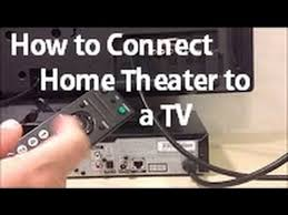 how to connect a home theater to a tv