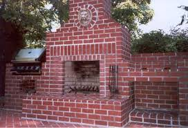 outdoor brick fireplace pictures and ideas