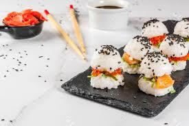 Trend Hybrid Food Japanese Asian Cuisine Mini Sushi Burgers