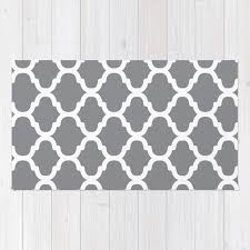 moroccan pattern grey rug