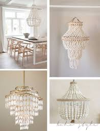 Beaded Shell Chandeliers Lamps Inspiration Diy