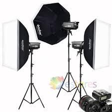 <b>Godox DP300II</b> 3x300W Photography Studio Strobe Flash Light ...