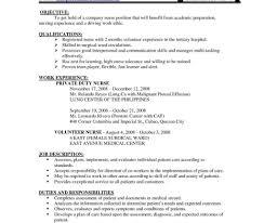 Nursing Resume Templates Free Lcysne Com