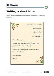Writing A Short Letter