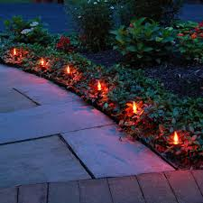 Outdoor Lighting Without Electricity Lumabase Electric Pathway Lights Flickering Orange 10 Count