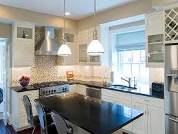 White Kitchen Cabinets Black Granite Countertops Simple Home