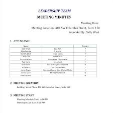 Staff Meeting Minutes Template Doc Safety Team Free Sample