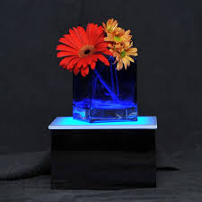 Lighted Display Stand For Glass Art LED Display Stand 100 x 100 x 100 Lighted Glass Art Display 18
