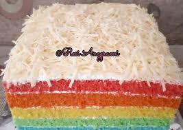 Resep bolu kukus santan , aneka jajanan pasar belum ada komentar untuk rainbow cake kukus 4 telur. Resep Rainbow Cake Ny Liem Kiriman Dari Resi Anggraeni 49 000 Resep Masakan Rumah Sederhana Yang Mudah Clonesakuraylh