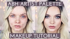 acne coverage abh artist palette makeup tutorial mypaleskin audiomania lt