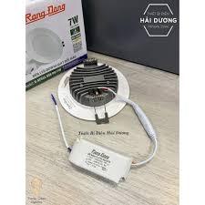 Đèn LED Downlight Âm Trần Đổi Màu Rạng Đông D AT02L ĐM 90/7W 3 Chế Độ Sáng  Trắng Vàng Trung Tính - Đèn trần