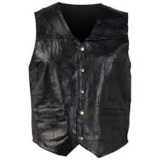 new mens womens leather motorcycle vest jacket waist coat m l xl 2xl 3x