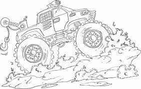 Small Picture Awesome Monster Truck Coloring Pages Printable 66 With Additional