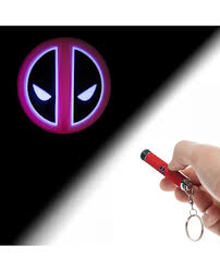 Marvel Deadpool Logo Flashlight Keychain