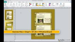 Microsoft Publisher Program Template Microsoft Publisher How To Change Templates Lynda Com Tutorial