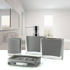 4 Piece Bathroom Accessory Set Immanuel Iced 4 Piece Bathroom Accessory Set Reviews Wayfair