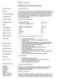 Legal Assistant Resume Template Example Fashion Production