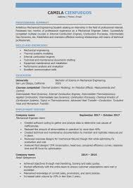 Resume Writing For Engineering Students 10 Mechanical Engineering Student Resume Examples Resume