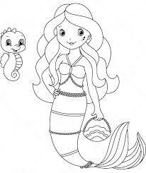 picture of mermaid to color. Plain Picture Mermaids Coloring Free Pages Mermaid Page Cute  Pencil And In Color With Picture Of Mermaid To Color O