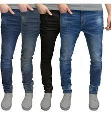 Mens Grey Designer Jeans Mens Slim Fit Jeans Super Stretch Denim Pants Slim Skinny Casual Designer Jeans