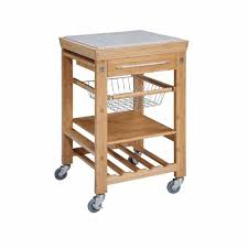Granite Kitchen Cart Chris Chris Pro Chef Natural Kitchen Cart With Storage Jet1224