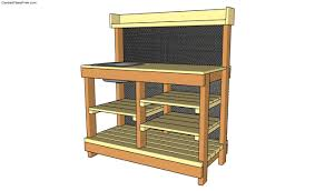 free potting bench plans free garden plans how to