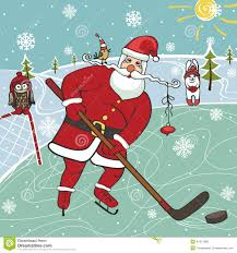 Image result for santa hockey skate