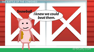Battle Of The Cowshed In Animal Farm Symbolism Analysis