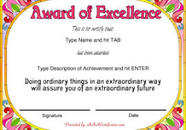 Free Certificate Templates For Word Recognition Certificate Templates Free Printable Certificate