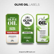 Label Design Free Olive Oil Labels With Different Designs Vector Free Download