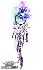Purple Dream Catcher Tattoo