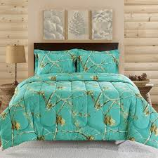 Realtree Teal Blue Camo Comforter Set: Shopko | College in 2019 ...