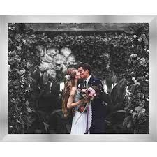 32x20 Frame 32x20 Silver Stainless Steel Wood Picture Frame With Acrylic Front And Foam Board Backing