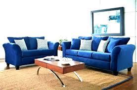 royal blue sofa couch living room set ideas velvet fabri blue sofa
