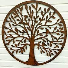 massive tree of life metal wall art