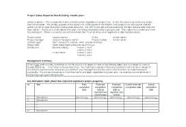Weekly Project Status Report Sample Monthly Project Progress Report Template New Sample Status Reports