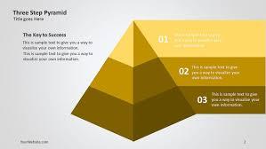 Pyramid Powerpoint Three Step Pyramid Ppt 3d Diagram Slide Ocean